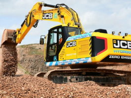 JCB develops construction's first hydrogen-fuelled excavator