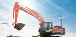 Hitachi hybrid hydraulic excavator