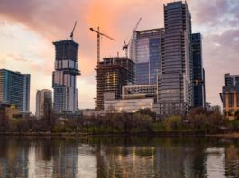 Demand for new buildings continues to fall in Texas as business activity resumes across the state