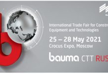 Bauma CTT Russia 2020 postponed to 25 to 28 May 2021