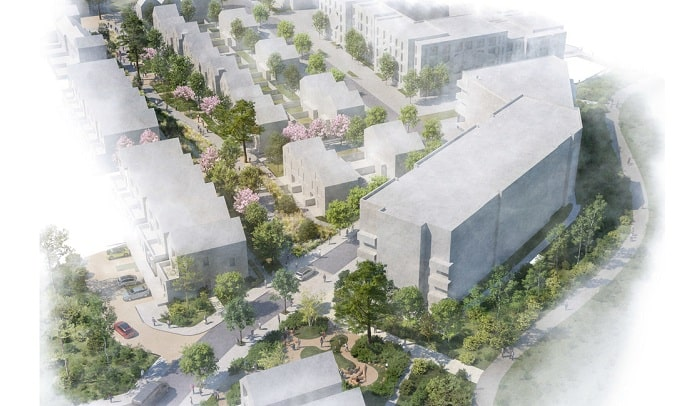 Grant Associates and Fletcher Priest Architects design community masterplan