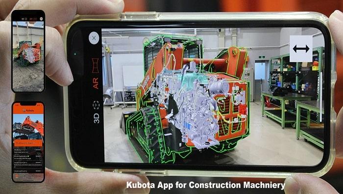 Kubota Develops a Smartphone App that Streamlines Troubleshooting of Construction Machinery
