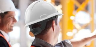 HS2 trialling Social distancing helmets keep HS2 workers safe