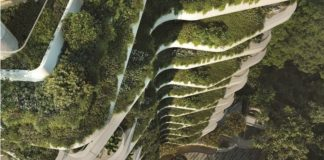 PLP unveils tower wrapped in garden for Singapore's Orchard Road