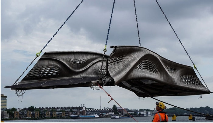 World's First 3-D-Printed Steel Bridge Debuts in Amsterdam