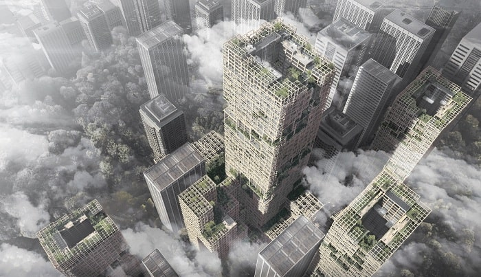 Wooden skyscrapers could hold the key to more environmentally friendly cities says Japanese architect