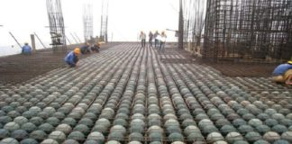 Bubbles instead of 1600 tons of concrete in German Building