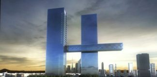 Dubai twin tower scheme with world's largest cantilever praised for 4D modeling