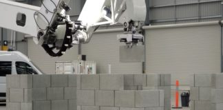 Hadrian X brick laying construction robot sets new record of placing 200 blocks per hour