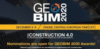GEOBIM 2020 Awards Invite Nominations for Excellence in Digital Engineering and Construction
