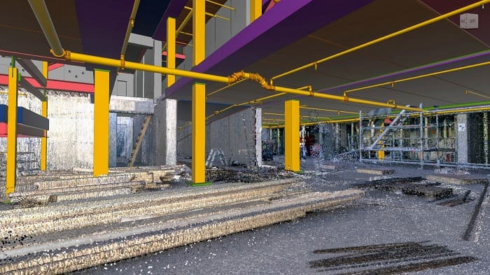 Automated scan-to-BIM inspection delivers green construction in Sweden