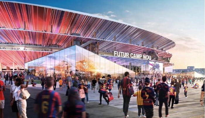 FC Barcelonas new football stadium